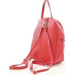 Plecaki damskie: Vera Pelle włoski skórzany czerwony Plecak ISABEL