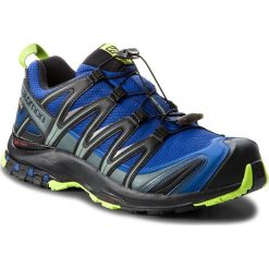 Buty SALOMON - Xa Pro 3D Gtx GORE-TEX 404721 28 V0  Mazarine Blue Wil/Black/Lime Green. Czarne buty do biegania męskie marki Salomon, z gore-texu, na sznurówki, gore-tex. W wyprzedaży za 489,00 zł.