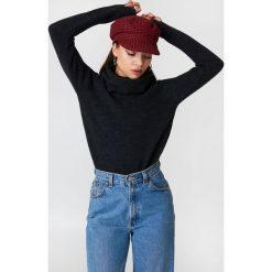 Trendyol Sweter z wywijanym golfem - Black,Grey. Czarne swetry oversize damskie Trendyol, z dzianiny. Za 80,95 zł.