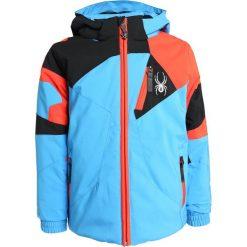 Spyder MINI LEADER UIUK Kurtka narciarska french blue/black/burst. Niebieskie kurtki damskie narciarskie Spyder, z materiału. W wyprzedaży za 671,20 zł.