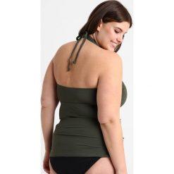 MICHAEL Michael Kors CURVE LOGO RING SHIRRED TANKINI Góra od bikini ivy. Brązowe bikini marki MICHAEL Michael Kors. W wyprzedaży za 439,20 zł.