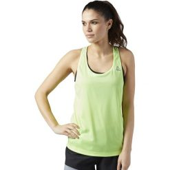 Topy sportowe damskie: Reebok Koszulka damska Running Essentials zielona r. S (BQ7483)