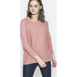 Vero Moda - Sweter Anna. Niebieskie swetry klasyczne damskie marki DOMYOS, z elastanu, street, z okrągłym kołnierzem. W wyprzedaży za 49,90 zł.