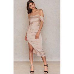 Sukienki: Lavish Alice Sukienka midi Ruche Borazeau – Nude