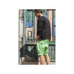 Bermudy damskie: Button drill short pants krótkie spodenki zielone