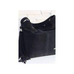 Zamszowa Shopper boho granatowy. Niebieskie shopper bag damskie marki Fabiola, z materiału, duże, zamszowe. Za 281,00 zł.