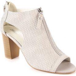 Rzymianki damskie: Sandały damskie na zamek szare Jezzi