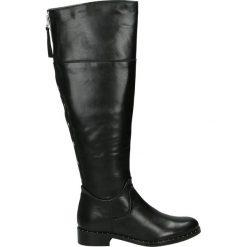 Kozaki - DORIS1804 BLA. Czarne buty zimowe damskie Venezia, ze skóry. Za 319,00 zł.