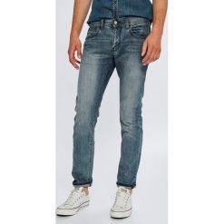 Armani Exchange - Jeansy. Czarne jeansy męskie relaxed fit marki Armani Exchange, l, z materiału, z kapturem. Za 439,90 zł.
