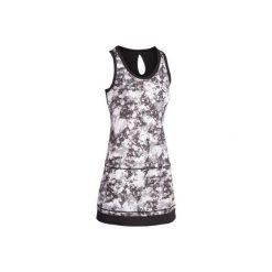 Sukienka tenis Soft 500. Czarne sukienki marki ARTENGO, z elastanu. W wyprzedaży za 29,99 zł.