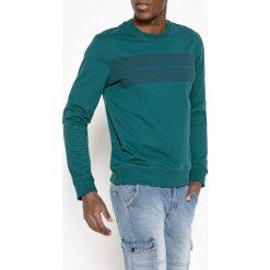 Bluza z okrągłym dekoltem i nadrukiem. Zielone kardigany męskie La Redoute Collections, l, z nadrukiem, z bawełny, z okrągłym kołnierzem. Za 141,08 zł.