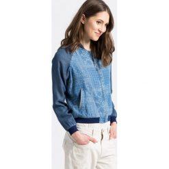 Pepe Jeans - Kurtka bomber. Szare bomberki damskie Pepe Jeans, s, z jeansu. W wyprzedaży za 299,90 zł.