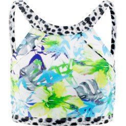 """Biustonosz bikini """"opaska"""" bonprix niebiesko-zielony z nadrukiem. Niebieskie bikini bonprix, z nadrukiem. Za 49,99 zł."""