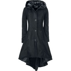 Poizen Industries Memorial Coat Płaszcz damski czarny. Szare płaszcze damskie z futerkiem marki bonprix. Za 399,90 zł.