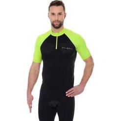 Koszulki sportowe męskie: Brubeck Koszulka rowerowa SS12390 czarno-limonkowa r. XS