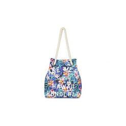 Torby shopper Superdry  SUMMER ROPE. Szare shopper bag damskie marki Superdry, l, z tkaniny, z okrągłym kołnierzem, na ramiączkach. Za 159,20 zł.