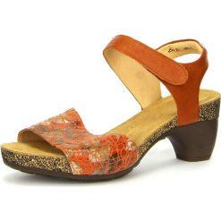 """Rzymianki damskie: Skórzane sandały """"Traudi"""" w kolorze rdzawym"""