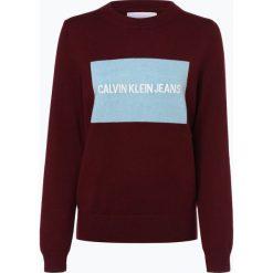 Calvin Klein Jeans - Sweter damski, czerwony. Czerwone swetry klasyczne damskie Calvin Klein Jeans, m, z jeansu. Za 439,95 zł.