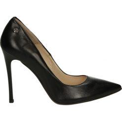 Czółenka - SK6684766 NER. Czarne buty ślubne damskie Venezia, ze skóry. Za 269,00 zł.