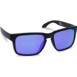Okulary przeciwsłoneczne OAKLEY - Holbrook OO9102-26 Matte Black/Violet Iridium. Czarne okulary przeciwsłoneczne męskie aviatory Oakley, z tworzywa sztucznego. W wyprzedaży za 479,00 zł.