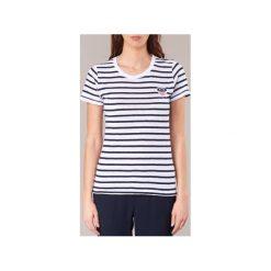 T-shirty z krótkim rękawem Tommy Jeans  TJW CN T-SHIRT S/S 27. Niebieskie t-shirty damskie marki Tommy Jeans, l, z jeansu. Za 159,20 zł.