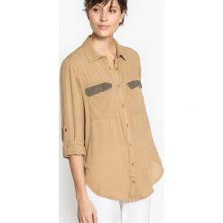 Koszule body: Prosta gładka koszula z kołnierzykiem polo