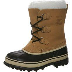 Sorel YOUTH CARIBOU Śniegowce beige. Brązowe buty zimowe chłopięce Sorel, z materiału. Za 499,00 zł.