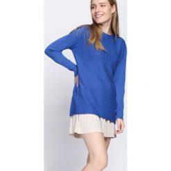 Ciemnoniebieski Sweter Light The Flame. Szare swetry klasyczne damskie Born2be, l, prążkowane. Za 79,99 zł.
