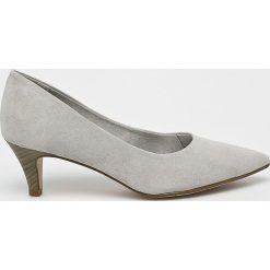 Tamaris - Czółenka. Szare buty ślubne damskie Tamaris, z materiału, na obcasie. W wyprzedaży za 99,90 zł.