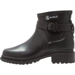 Aigle MACADAMES LOW Kalosze noir. Czarne buty zimowe damskie Aigle, z materiału. Za 479,00 zł.