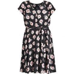 Sukienki hiszpanki: Dorothy Perkins Curve BILLIE AND BLOSSOM SPOT FLORAL V NECK DRESS Sukienka letnia black