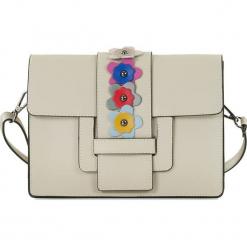 """Skórzana torebka """"Rosie"""" w kolorze beżowym - 28 x 21 x 10 cm. Brązowe torebki klasyczne damskie Spécial maroquinerie, z aplikacjami, z materiału, z aplikacjami. W wyprzedaży za 218,95 zł."""