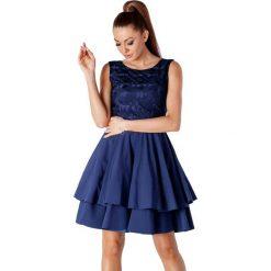 Sukienki asymetryczne: Sukienka w kolorze granatowym