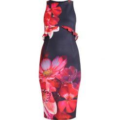 Sukienki hiszpanki: True Violet TRUE VIOLET MIDI DRESS WITH WAIST FRILL Sukienka etui navy/red floral