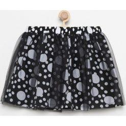 Spódniczki dziewczęce z falbankami: Spódnica w kropki – Czarny