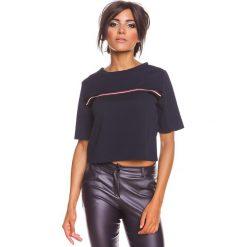 """Odzież damska: Koszulka """"Eden"""" w kolorze granatowym"""