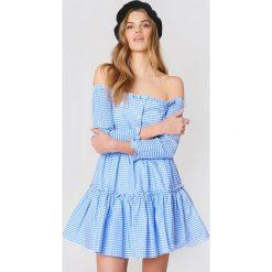 Sukienki: English Factory Sukienka z odkrytymi ramionami – Blue,Multicolor
