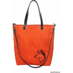 Torebka z wiewiórką Cuboid. Brązowe torebki klasyczne damskie Pakamera, z bawełny. Za 250,00 zł.