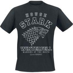 Gra o Tron House Stark - Winterfell T-Shirt czarny. Czarne t-shirty męskie z nadrukiem Gra o Tron, l, z okrągłym kołnierzem. Za 74,90 zł.
