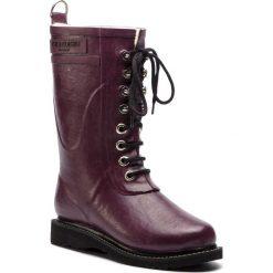 Kalosze ILSE JACOBSEN - RUB15 Eggplant 524. Fioletowe buty zimowe damskie Ilse Jacobsen, z kauczuku. W wyprzedaży za 429,00 zł.