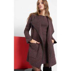 Swetry damskie: Kardigan z wstawkami z ekoskóry