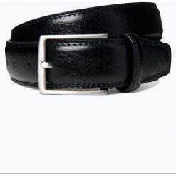 Monti - Męski pasek skórzany, czarny. Czarne paski męskie Monti, w paski, ze skóry, klasyczne. Za 99,95 zł.