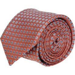 Krawaty męskie: krawat platinum pomarańczowy classic 202