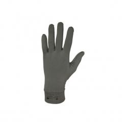 Rękawiczki myśliwskie wewnętrzne 100. Brązowe rękawiczki damskie SOLOGNAC, z elastanu. Za 24,99 zł.