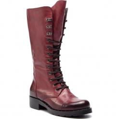 Kozaki EVA MINGE - Gibraleon 4N 18JS1372581EF 134. Czerwone buty zimowe damskie Eva Minge, ze skóry, na obcasie. W wyprzedaży za 579,00 zł.