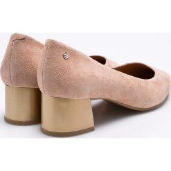 Tommy Hilfiger - Czółenka. Czarne buty ślubne damskie TOMMY HILFIGER, z materiału, na obcasie. W wyprzedaży za 439,90 zł.