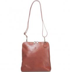 Skórzana torebka w kolorze jasnobrązowym - 24,5 x 26 x 8 cm. Brązowe torebki klasyczne damskie I MEDICI FIRENZE, w paski, z materiału. W wyprzedaży za 282,95 zł.