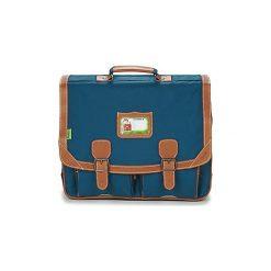 Teczki Tann's  LES INCONTOURNABLES CARTABLE 41CM. Niebieskie torebki klasyczne damskie Tann's. Za 255,20 zł.