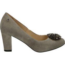 Czółenka - 678-939 GRIGI. Szare buty ślubne damskie Venezia, ze skóry. Za 179,00 zł.