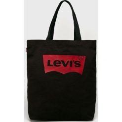 Levi's - Torebka. Brązowe torebki klasyczne damskie Levi's®, z bawełny, duże. Za 89,90 zł.